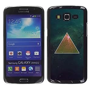 For Samsung Galaxy Grand 2 II / SM-G7102 / SM-G7105 Case , Deep Mathematics Universe Space - Diseño Patrón Teléfono Caso Cubierta Case Bumper Duro Protección Case Cover Funda