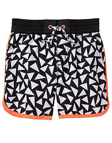 Gymboree Baby Boys Geo Swim Trunks, Black Triangles, 4T by Gymboree