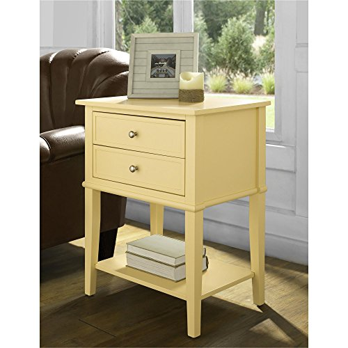Ameriwood Home 5062496COM Franklin Accent Table 2 Drawers, Yellow by Ameriwood Home (Image #6)