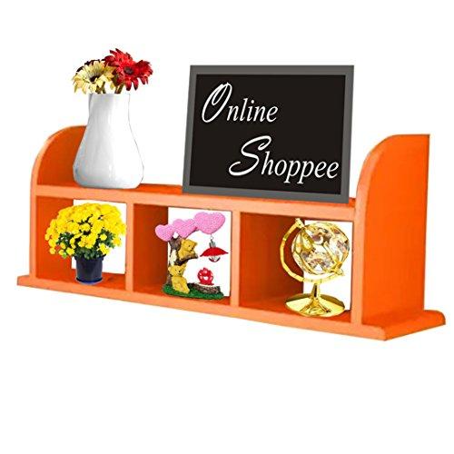 Onlineshoppee Beautiful MDF Wall Shelves/Rack Orange
