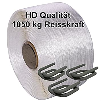Sonderangebot: 19mm HD Textilband Umreifungsband gewebt , 1050kg ...