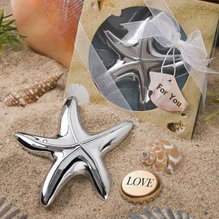 Starfish Design Bottle Opener Wedding Favors