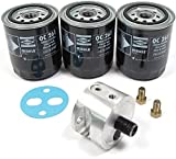 Spin-On Oil Filter Adapter Kit: Includes Adapter & 3 Oil Filters For Land Rover Series