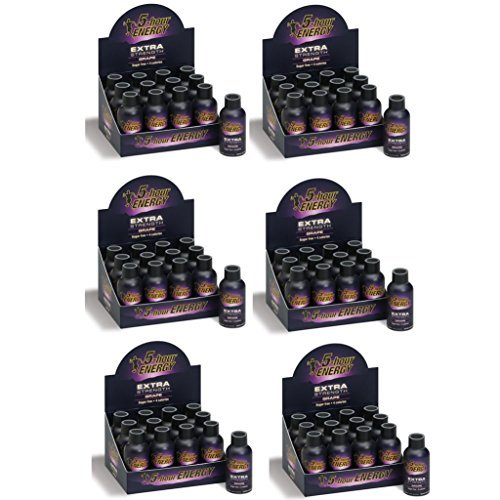 5 Hour Energy Shot Extra Strength Grape- 72 Pack of 2 Ounce Bottles