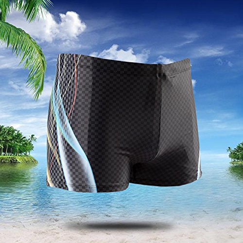 ZQ@QXL'Europe et les États-Unis men's fashion boxer XL maillot de bain,noir,XXL
