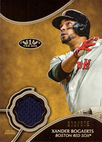 Insert Jersey Red - 2019 Topps Tier One Relics #T1R-XB Xander Bogaerts Game Worn Red Sox Jersey Baseball Card - Only 375 made!