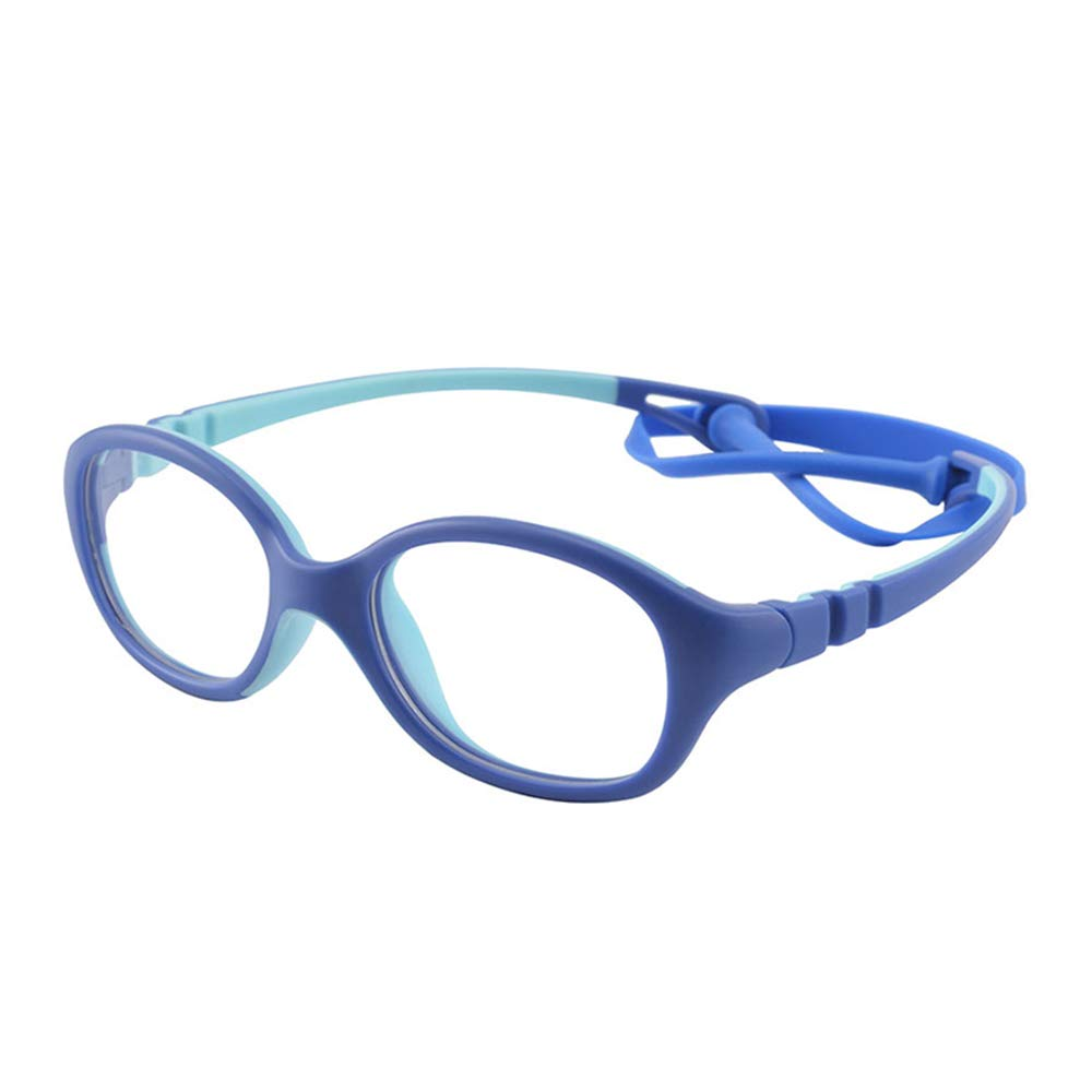 Age 2-5 Unbreakable Flexible Kids Glasses Frame with Clear Oval Lens Cute Eyewear Frame for Girls