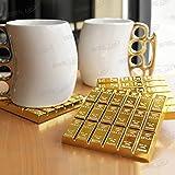 SABLUE Gold Bullion Coaster Home decorative Gold