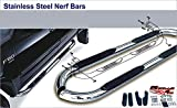 armada nerf bars - APS NB-N3096S Mirror Polished Nerf Bar Bolt Over for select Nissan Armada Models