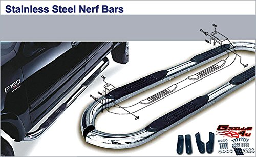APS NB-R3158S Mirror Polished Nerf Bar Bolt Over for select Land Rover Range Rover Sport Models (Range Rover Sport Bull Bar)