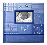 Creat-A-Memory – Baby Photo Album + Voice Recording Scrapbook + Talking Milestone Journal + Family Memories Come Alive With Sound + Shower Gift + Blue + 12 in x 12 in