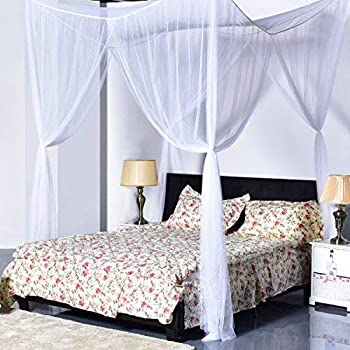 Amazon Com Heavenly 4 Post Bed Canopy Burgundy Home Kitchen