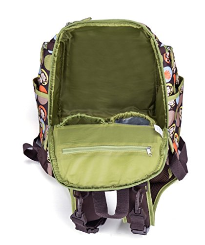 LCY Smart–Mochila saco de cambiador de bebé bolsa de pañales con cambiador y cochecito correas Coffee with Dots Coffee with Dots