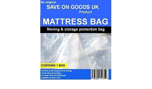 Save On Goods UK 5 pies King tamaño Doble colchón Bolsa. Fuerte Plástico Resistente Polythene Concierto Transporte eliminación Bolsa de Pantalla: Amazon.es: ...