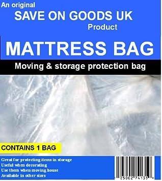 Colchón bolsa único de flujo para duchas 91,44 cm tamaño. Plástico Polietileno protector hinchable para quitar bolsa de transporte: Amazon.es: Hogar