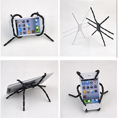 Silicone Spider Holder Colorful Gift Desk Stand Car Air Vent Headrest Spider Holder Universal for Iphone5s Iphone6 Samsung S3 S5 Note2 Smartphone Support (white) (Head Spider Rest)