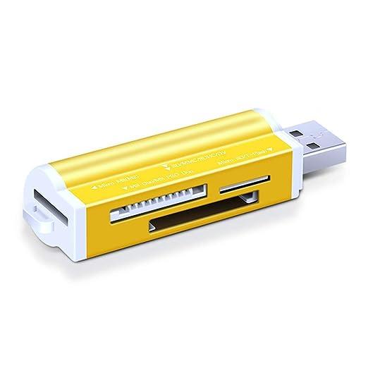 Lector de Múltiples Tarjetas USB Micro SD Lector de Tarjetas ...