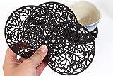 Handmade Wooden Mug Coaster Set DIAMETER: 3.9''