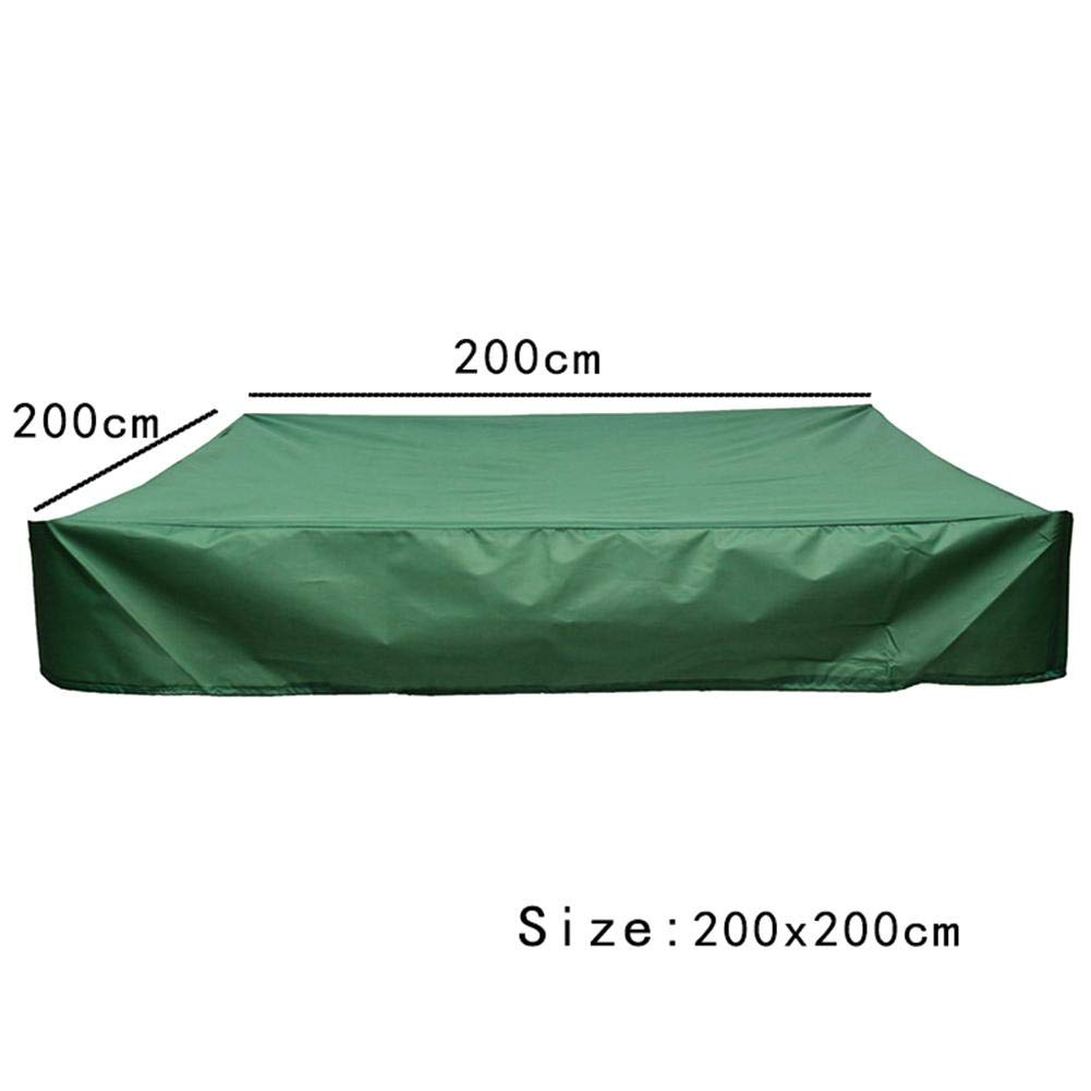 Funarrow Green Sandbox Covers with Drawstring Multi-Purpose Waterproof Poly Tarp Cover Cover Pool Cover 95 UV Protection Dustproof, Avoid The Sand and Toys Contamination by Funarrow (Image #2)