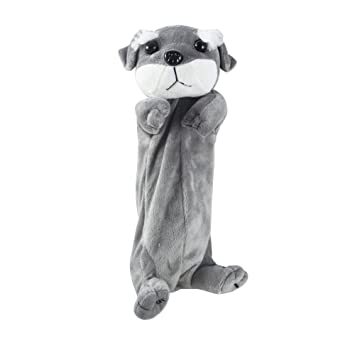 Estuche para lápices, con forma de perro de felpa, bolsa ...