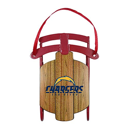 (NFL San Diego Chargers Metal Sled Ornament)