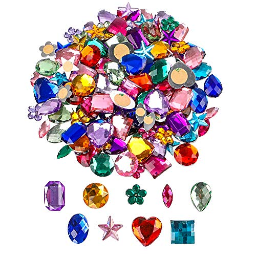 YIQIHAI 150pcs Self Adhesive Rhinestone Stickers Jewels Bling Crystal Gem Stickers for Kids DIY Arts & Crafts Assorted Shapes Colors
