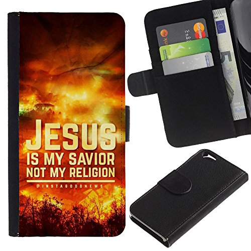 EuroCase - Apple Iphone 6 4.7 - JESUS IS MY SAVIOR - Cuir PU Coverture Shell Armure Coque Coq Cas Etui Housse Case Cover