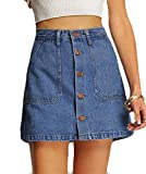 Generic Womens Summer Cute Button Down Denim Mini Skirt