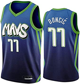 DCCSport Hombre Ropa de Baloncesto Dallas Mavericks 77 Doncic ...