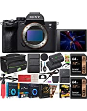 Sony a7s III ILCE-7SM3/B Mirrorless Digital Camera with 35mm Full-Frame Image Sensor Body Double Battery Bundle Including Deco Gear Carry Case + 2X 64GB Memory Card (128GB Total) and Kit Accessories photo