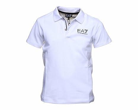 676868921 Boys Emporio Armani 6XBF51 BJ04Z EA7 Short Sleeve Polo White: Amazon.co.uk:  Clothing