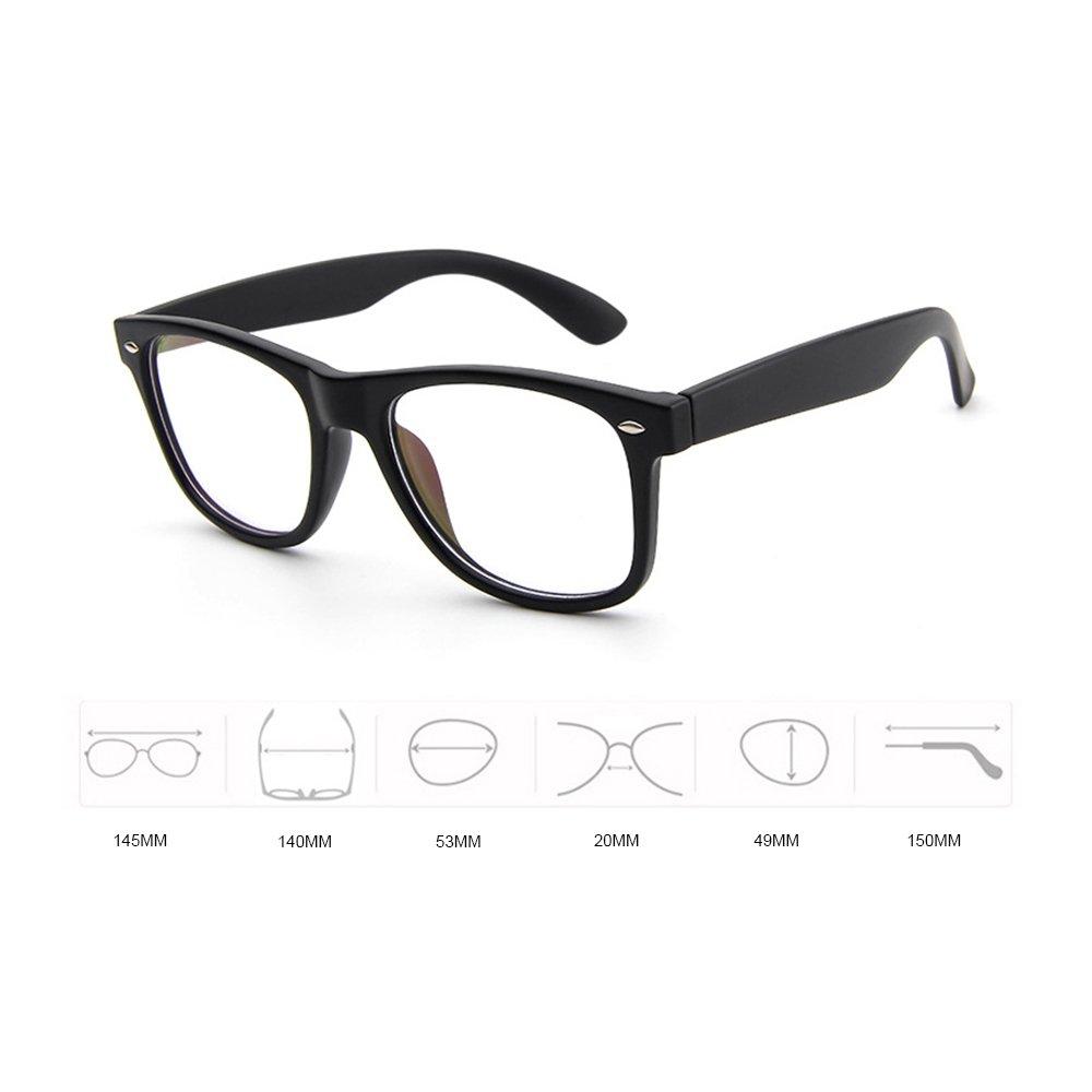 Glasses Frame Wayfarer for Men Women Eyeglasses Clear Lens