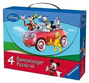 Mickey Mouse Club House - Maleta con 4 puzzles (Ravensburger 07214 9)