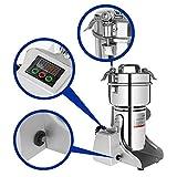 Marada 500g Pulverizer Grinding Machine LCD Digital Stainless Steel Electric Grain Mills Grinder Powder 25000 r/min Pulverizer Machine for Kitchen Herb Spice Pepper Coffee Powder Grinder