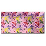 Orchid Color Rectangle Tablecloth: Medium Dining Room Kitchen Woven Polyester Custom Print