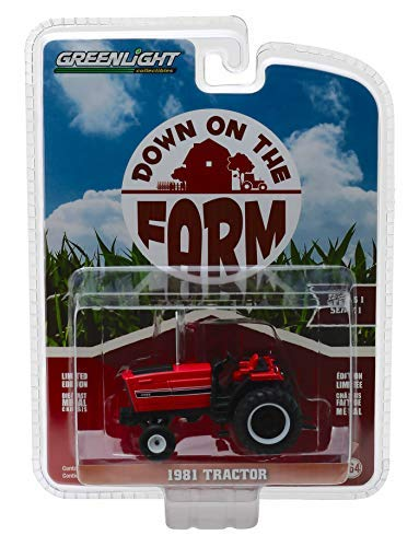 1981 Tractor 3488 Red and Black Down on The Farm Series 1 1/64 Diecast Model by Greenlight 48010 E ()
