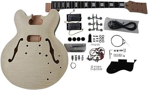 gd230 CAOBA Semi Hollow Cuerpo guitarra eléctrica Hazlo tú mismo ...