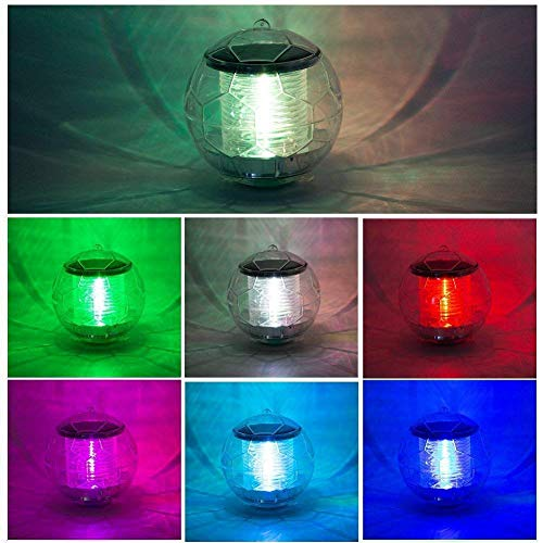 Outdoor Solar Color Changing Led Floating Lights Ball in US - 3