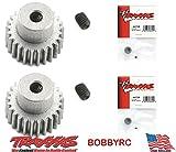 Bobbyrc Traxxas 4725 Pinion Gear 25T 48P(2pc) 1 10 Slash 2WD Rustler Stampede Bandit VXL XL-5