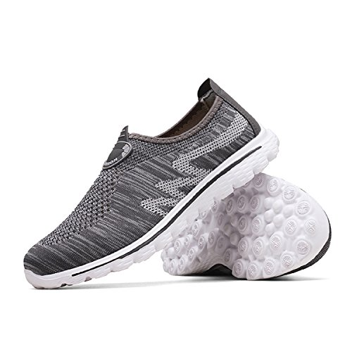 Athletic Jogging Mastery Trainers Flats Shoes Men's H Grey Gym Women's Knit Sports Casual Walking Shoes Unisex Lightweight Running Bqw1xzwd