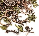 30 Grams Mixed Tibetan Random Shapes & Sizes Mixed Charms - (HA13080) - Charming Beads