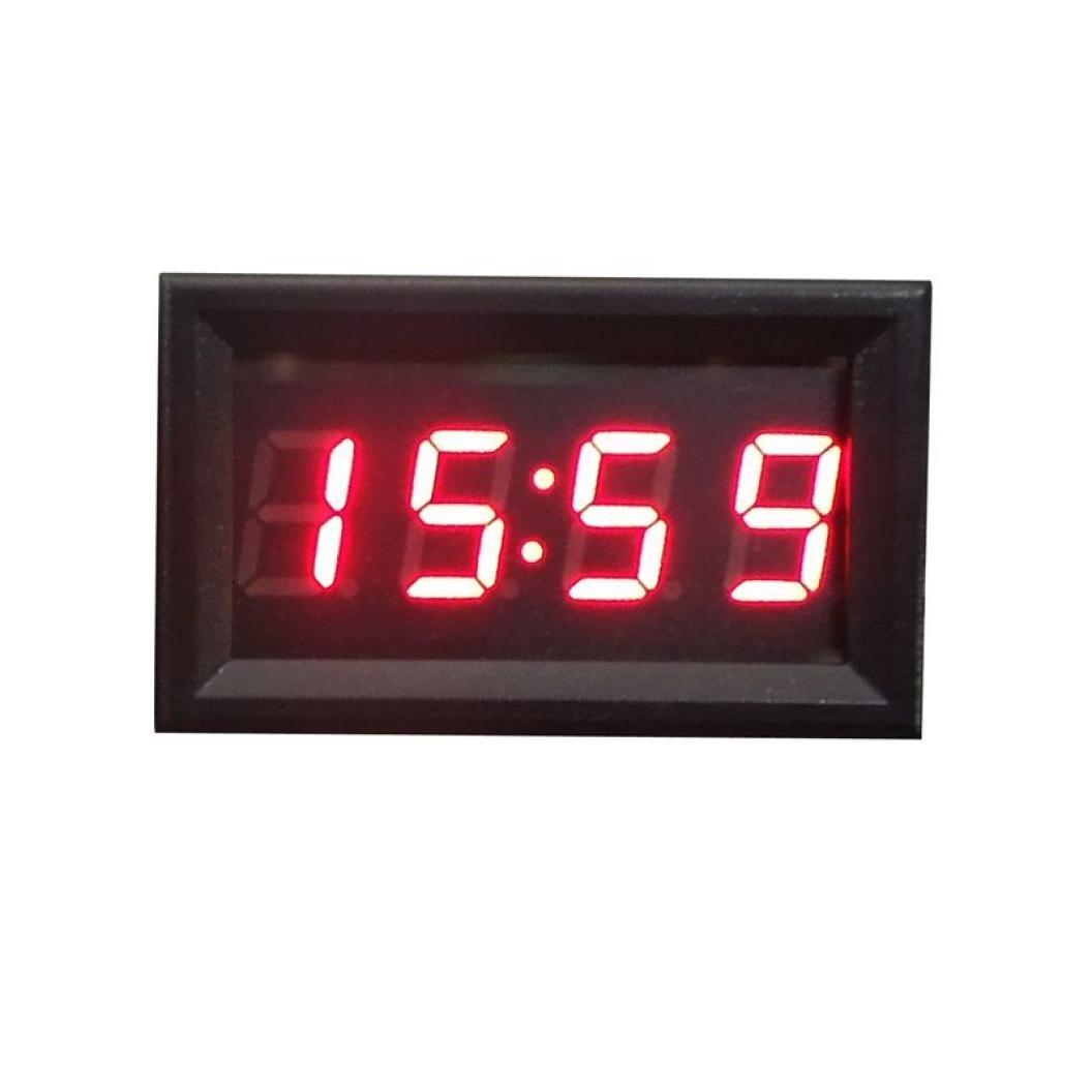Hunpta 12/V//24/V Accessoire de moto et de voiture /Écran d/'affichage LED num/érique de l/'heure Pour tableau de bord