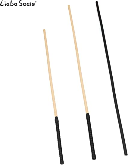 Black Liebe Seele 26.5/'/' Unbreakable Rattan Caning Canes Whip Riding Crop