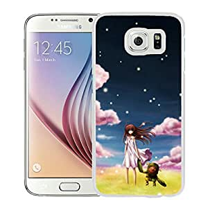 Beautiful Designed Cover Case For Samsung Galaxy S6 With Clannad Ushio White Phone Case