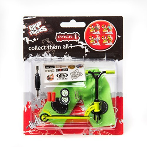 Grips & Tricks Finger Scooter Stunt Pack 1 (Green) by Grip&Tricks