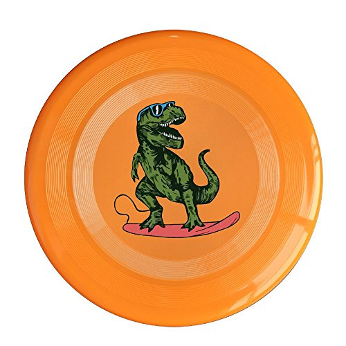 Happy Dinosaur Surfer Wearing Sunglasses Flying Disc,Skylighter - Sunglasses Page Coloring