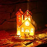 Katoot Creative Wood House Shape LED Bulbs Wire String Lights Christmas Decoration Lights for Holiday Wedding Party Decor