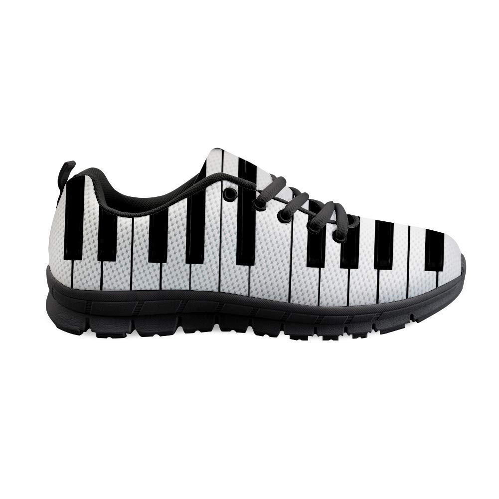 Owaheson Lace-up Sneaker Training Shoe Mens Womens Piano Keys