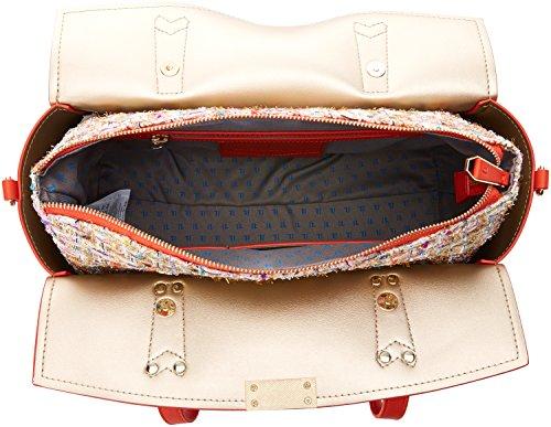 Trussardi Jeans Rosemary, Borsa Tote Donna, Arancione, 34x28x18 cm