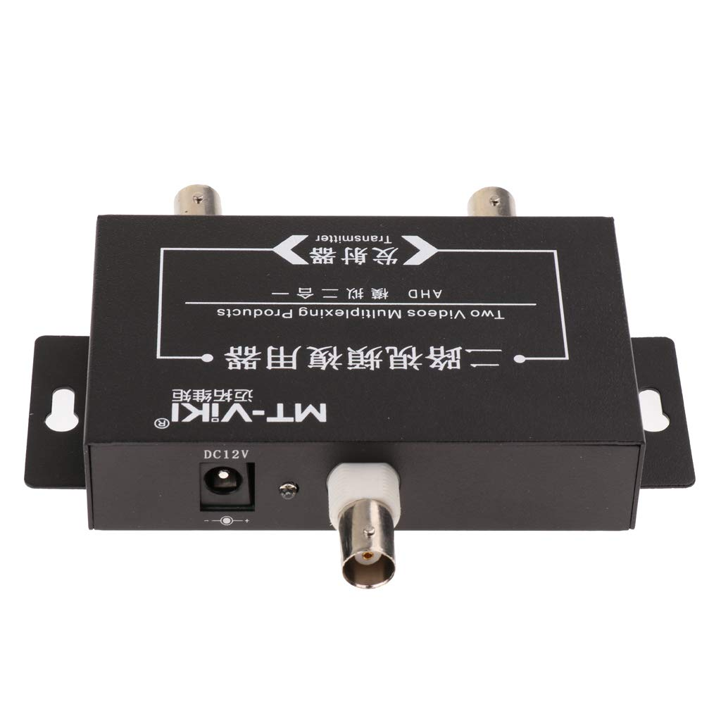 ... 2 Channel Video Signal Coaxial Multiplexer with Transmitter and Receiver to Connect 2 Cameras by 1 Cable for CCTV Security System: Home Audio & Theater
